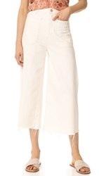Free People Dawn To Dusk Crop Flare Jeans White