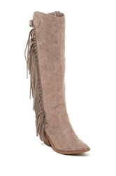 Carlos By Carlos Santana Lever Tall Fringe Western Boot Brown