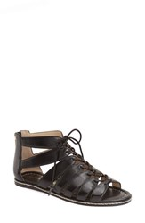 Women's Bettye Muller 'Festival' Flat Gladiator Sandal Black Leather
