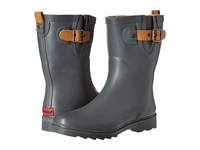 Chooka Top Solid Mid Rain Boot Dark Gray Women's Rain Boots