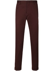 Paul Smith Classic Fit Chino Trousers Men Cotton Spandex Elastane 34 Pink Purple