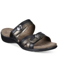 Easy Street Shoes Ashby Sandals Women's Black Pewter