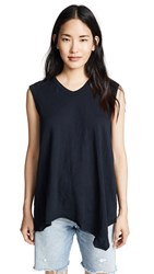 Wilt Easy Shell Slanted Tank Top Abyss