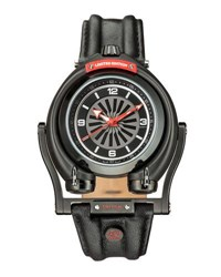 Gv2 48Mm Triton Men's Watch W Leather Strap