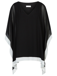 Windsmoor Chiffon Tunic Top Black White