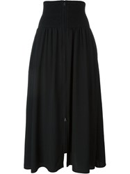 Fendi Zip Front Midi Skirt Black