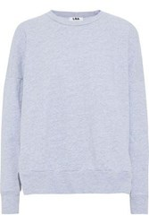 Lna Cotton Blend Sweatshirt Light Gray