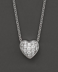 Roberto Coin 18 Kt. White Gold Diamond Pave Heart Necklace No Color