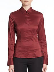 Hugo Boss Bashina Blouse Dark Red
