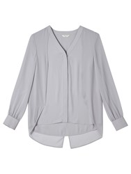 Precis Petite By Jeff Banks Cape Blouse Mid Grey