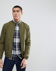 Only And Sons Bomber Jacket Olive Night Green