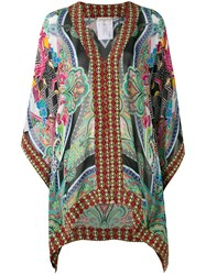 Etro V Neck Tunic Women Silk Viscose 44