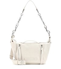 Mcq By Alexander Mcqueen Mini Hobo Leather Shoulder Bag White