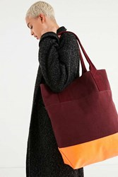 Urban Outfitters Tonal Colorblocked Shopper Tote Bag Purple