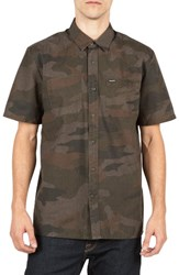 Volcom Men's Clutch Cotton Blend Woven Shirt