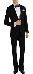 Ralph Lauren Black Label Silk Notched Lapel 'Anthony' Tuxedo Black