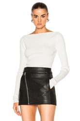 Dion Lee Pinacle Horizontal Long Sleeve Top In White
