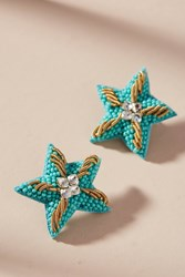 Suzanna Dai Caicos Starfish Post Earrings Blue