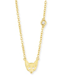 Fox Bezel Diamond Pendant Necklace Shy By Sydney Evan