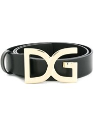 Dolce And Gabbana Dg Buckle Belt Black