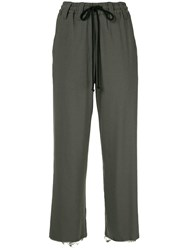 Song For The Mute High Waist Trousers Green