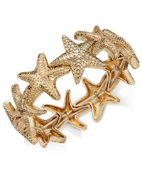 Charter Club Gold Tone Starfish Stretch Bracelet Only At Macy's
