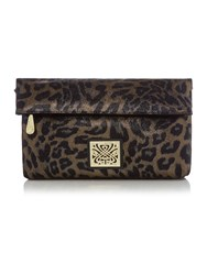 Biba Ferara Clutch Handbag Gold Metallic