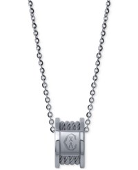 Charriol Women's Forever Stainless Steel Cable Pendant Necklace Silver
