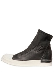Cinzia Araia Stretch Nappa Leather High Top Sneakers