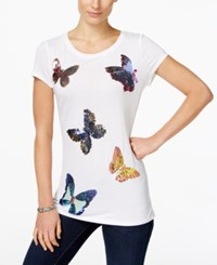 Inc International Concepts Butterfly Print T Shirt Only At Macy's Bright White
