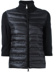 Moncler Padded Front Sweater Black