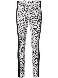 Haider Ackermann Contrast Panel Leather Trousers White
