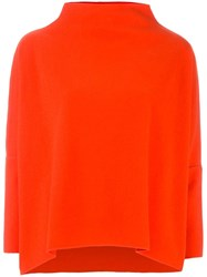 Dusan Loose High Neck Jumper Red