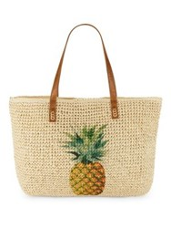 Straw Studios Pineapple Tote Natural