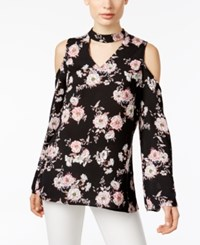 Ny Collection Off The Shoulder Floral Print Top Pink Zinnia