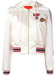 Hilfiger Collection Logo Patch Bomber Jacket White