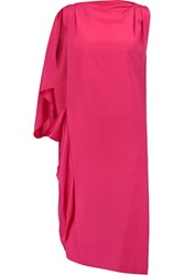 Vionnet Draped Silk Chiffon Dress Pink