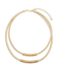Kenneth Jay Lane Tiered Goldtone Snake Chain Necklace