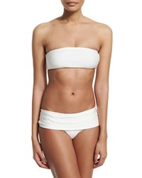 Marie France Van Damme Rafia Bandeau Two Piece Swimsuit Size 3 14 White