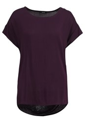 Opus Skita Basic Tshirt Dried Berry Bordeaux