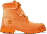 Off White Orange Timberland Edition 6 Inch Textile Boots