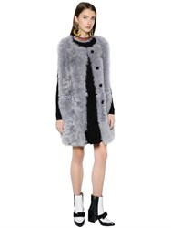 Marni Shearling Long Vest