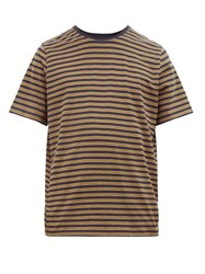 Oliver Spencer Conduit Striped Cotton Jersey T Shirt Navy