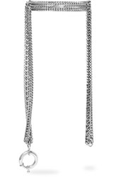 Balenciaga Silver Tone Necklace Gray