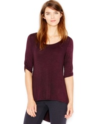 Maison Jules Ruched High Low Tunic Only At Macy's Plum Perfect