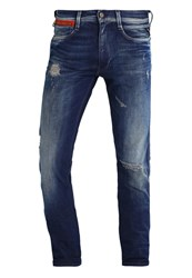 Replay Anbass Straight Leg Jeans Destroyed Denim