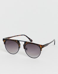 Jeepers Peepers Peeper Retro Sunglasses In Tort Brown
