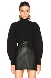Thierry Mugler Exaggerated Volume Sweater In Black
