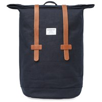 Sandqvist Stig Rolltop Backpack Blue