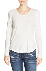 Junior Women's Rvca Long Sleeve Knit Top Vintage White